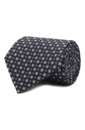 Мужской шелковый галстук CORNELIANI синего цвета, арт. 85U302-0120369/00 | Фото 1