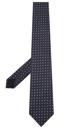 Мужской шелковый галстук CORNELIANI темно-синего цвета, арт. 85U302-0120369/00 | Фото 2