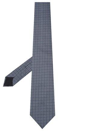 Мужской шелковый галстук CORNELIANI голубого цвета, арт. 85U302-0120369/00 | Фото 2