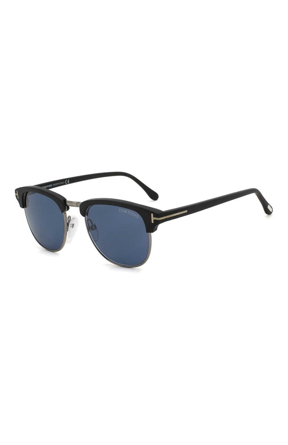 Мужские солнцезащитные очки TOM FORD черного цвета, арт. TF248 02X | Фото 1