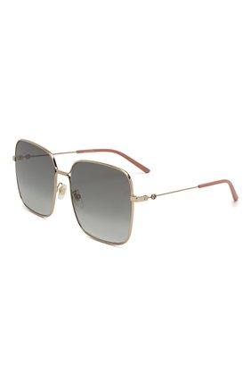 Мужские солнцезащитные очки GUCCI золотого цвета, арт. GG0443 001   Фото 1
