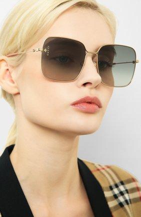 Мужские солнцезащитные очки GUCCI золотого цвета, арт. GG0443 001   Фото 2