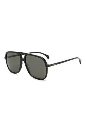 Мужские солнцезащитные очки GUCCI черного цвета, арт. GG0545 001 | Фото 1