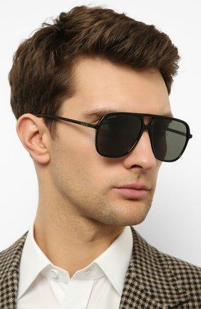Мужские солнцезащитные очки GUCCI черного цвета, арт. GG0545 001 | Фото 2