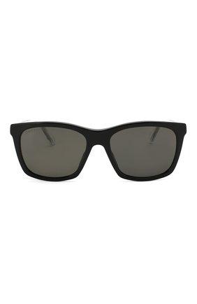 Мужские солнцезащитные очки GUCCI черного цвета, арт. GG0558 002   Фото 3