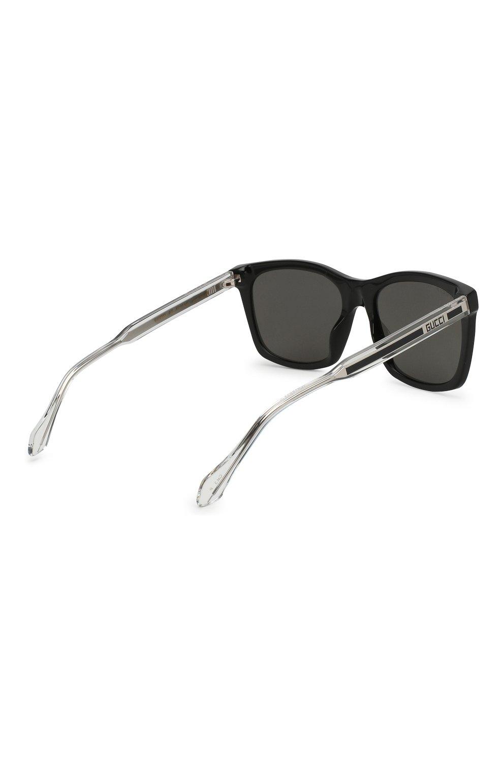 Мужские солнцезащитные очки GUCCI черного цвета, арт. GG0558 002   Фото 4