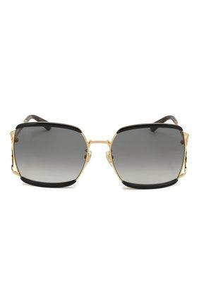 Женские солнцезащитные очки GUCCI черного цвета, арт. GG0593SK 004 | Фото 3