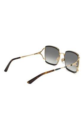 Женские солнцезащитные очки GUCCI черного цвета, арт. GG0593SK 004 | Фото 4