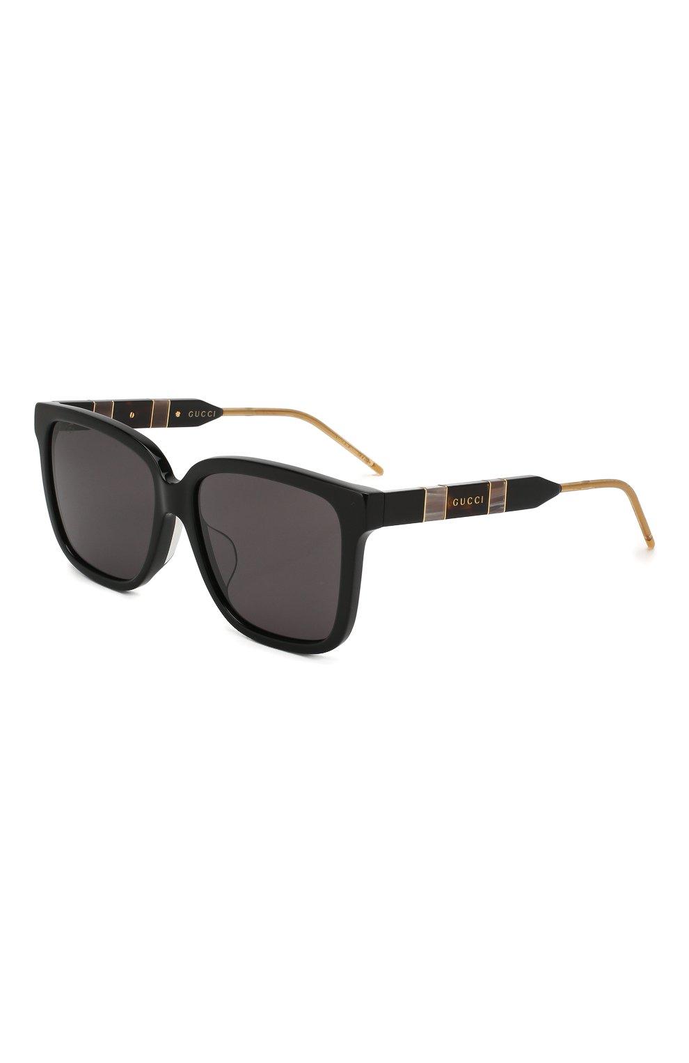 Женские солнцезащитные очки GUCCI черного цвета, арт. GG0599SA 001 | Фото 1