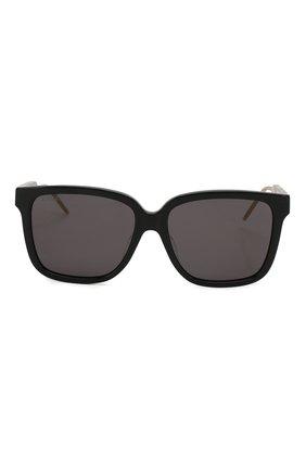 Женские солнцезащитные очки GUCCI черного цвета, арт. GG0599SA 001 | Фото 3