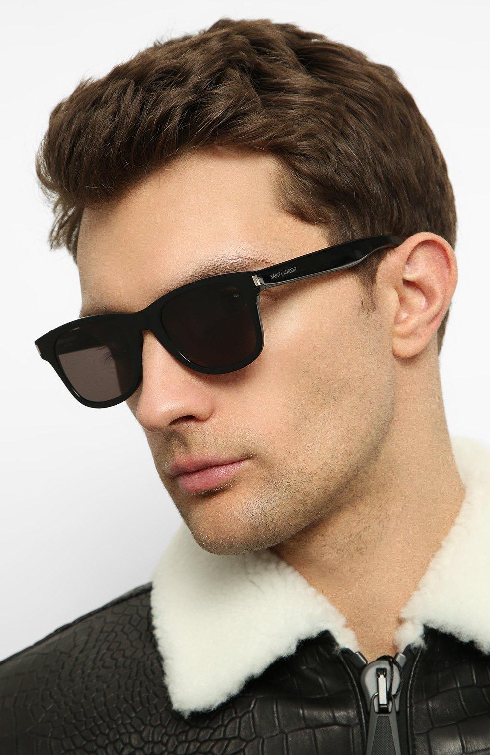 Женские солнцезащитные очки SAINT LAURENT коричневого цвета, арт. SL 51-B SLIM 001   Фото 3