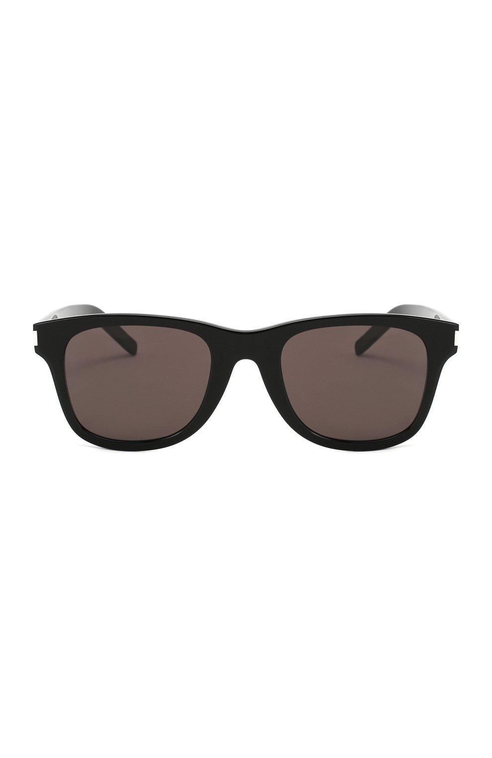 Женские солнцезащитные очки SAINT LAURENT коричневого цвета, арт. SL 51-B SLIM 001   Фото 4
