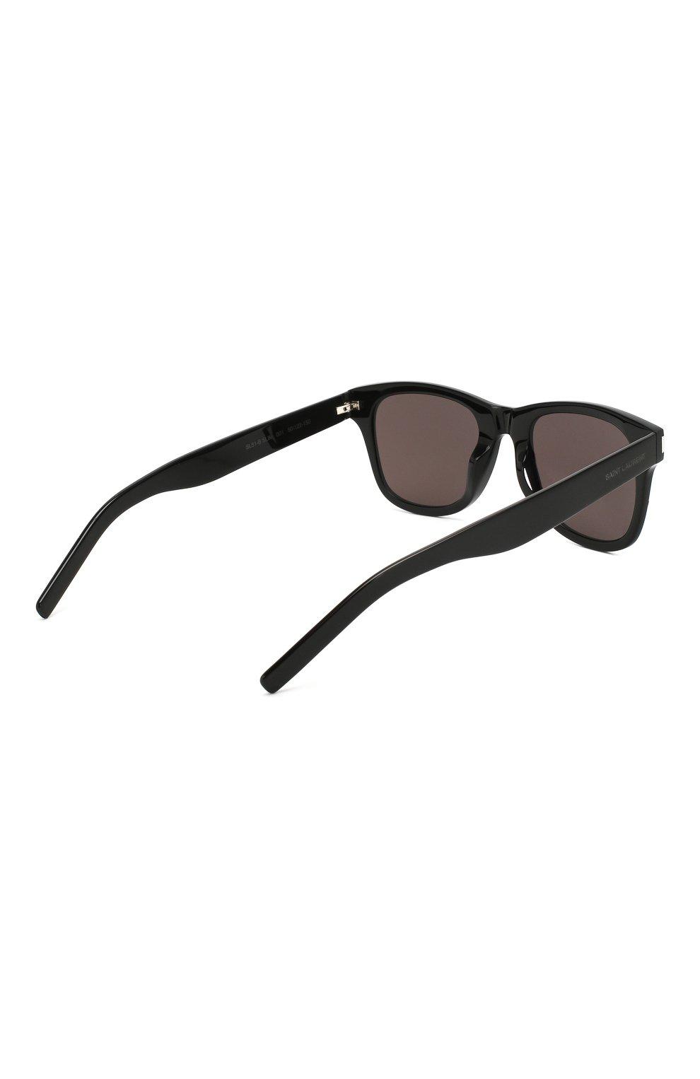 Женские солнцезащитные очки SAINT LAURENT коричневого цвета, арт. SL 51-B SLIM 001   Фото 5