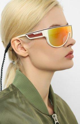 Мужские солнцезащитные очки MARC JACOBS (THE) белого цвета, арт. MARC 410 VK6 | Фото 2