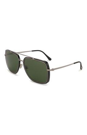 Мужские солнцезащитные очки TOM FORD зеленого цвета, арт. TF750 01N   Фото 1 (Статус проверки: Проверена категория; Тип очков: С/з; Очки форма: Прямоугольные; Оптика Гендер: оптика-мужское)