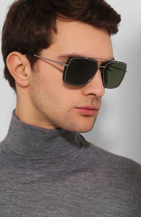 Мужские солнцезащитные очки TOM FORD зеленого цвета, арт. TF750 01N   Фото 2 (Статус проверки: Проверена категория; Тип очков: С/з; Очки форма: Прямоугольные; Оптика Гендер: оптика-мужское)