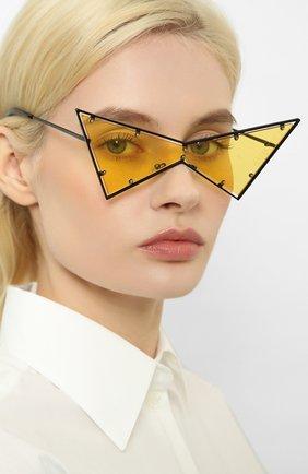 Мужские солнцезащитные очки KENZO черного цвета, арт. KZ40030U 01J | Фото 2