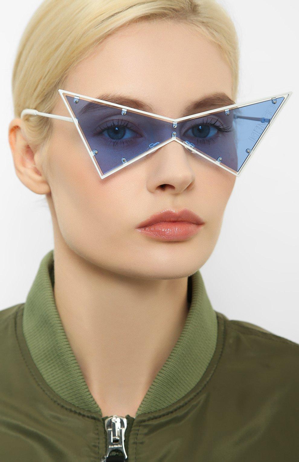 Женские солнцезащитные очки KENZO белого цвета, арт. KZ40030U 21V   Фото 2