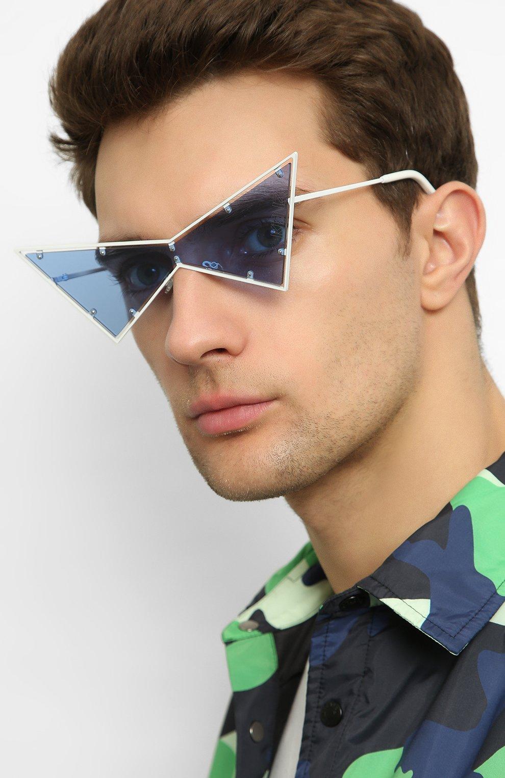Женские солнцезащитные очки KENZO белого цвета, арт. KZ40030U 21V   Фото 3