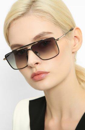 Женские солнцезащитные очки EQUE.M черного цвета, арт. CLASSIC SHAVE/MB | Фото 2
