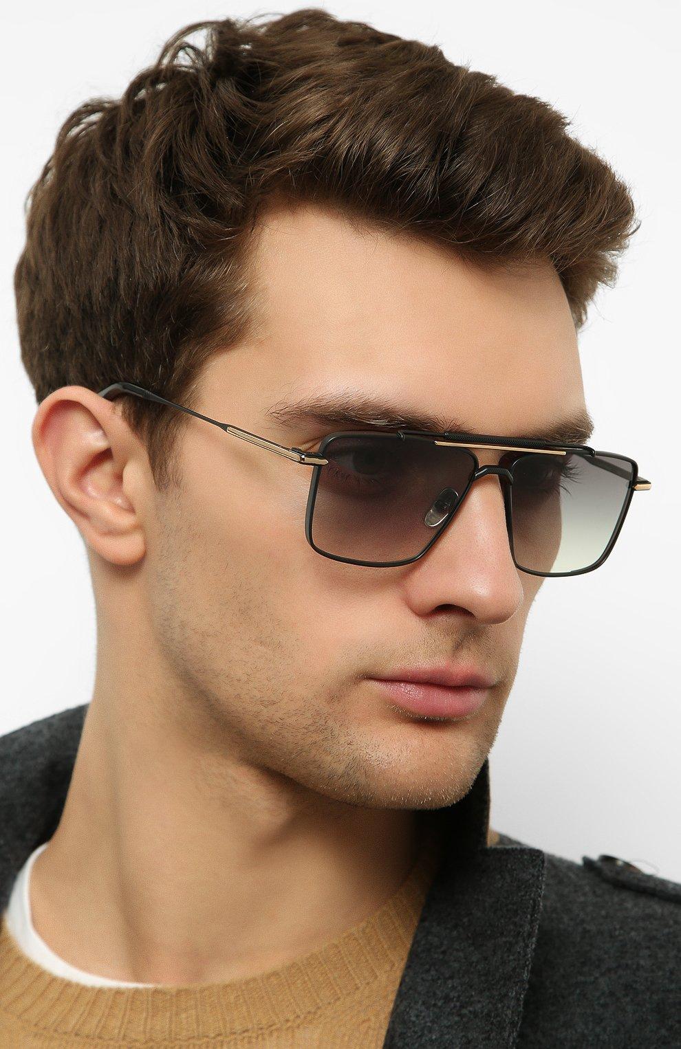 Женские солнцезащитные очки EQUE.M черного цвета, арт. CLASSIC SHAVE/MB | Фото 3