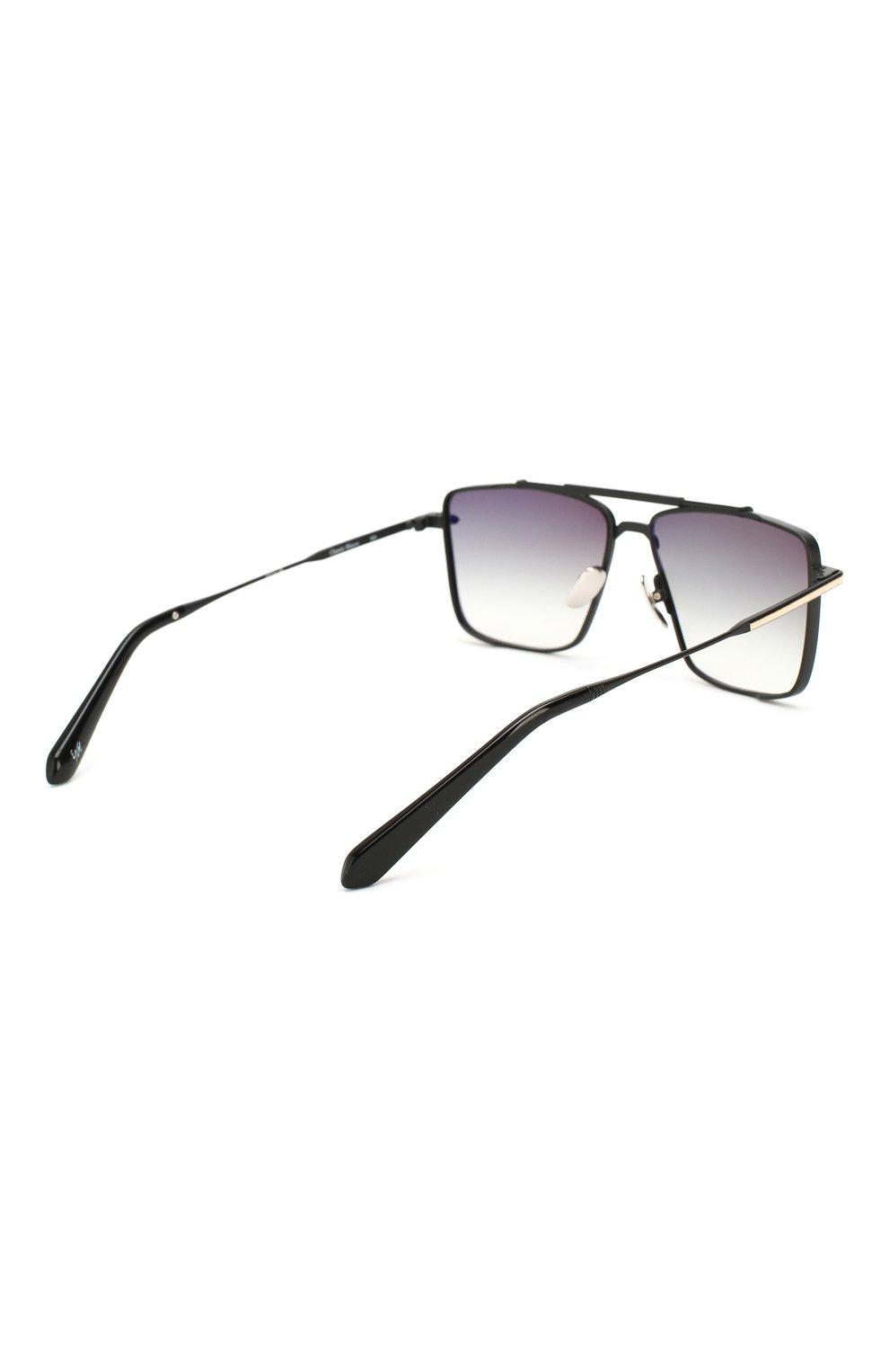 Женские солнцезащитные очки EQUE.M черного цвета, арт. CLASSIC SHAVE/MB | Фото 5