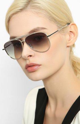 Мужские солнцезащитные очки EQUE.M серебряного цвета, арт. CLASSIC BLEND/SS | Фото 2