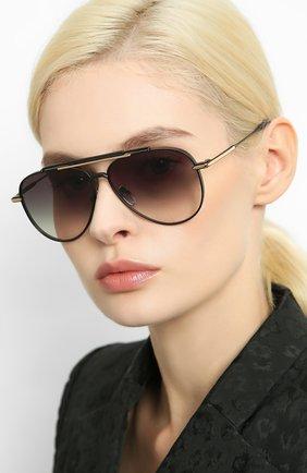 Мужские солнцезащитные очки EQUE.M черного цвета, арт. CLASSIC BLEND/MB | Фото 2