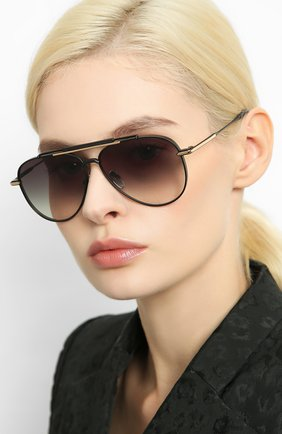 Женские солнцезащитные очки EQUE.M черного цвета, арт. CLASSIC BLEND/MB | Фото 2