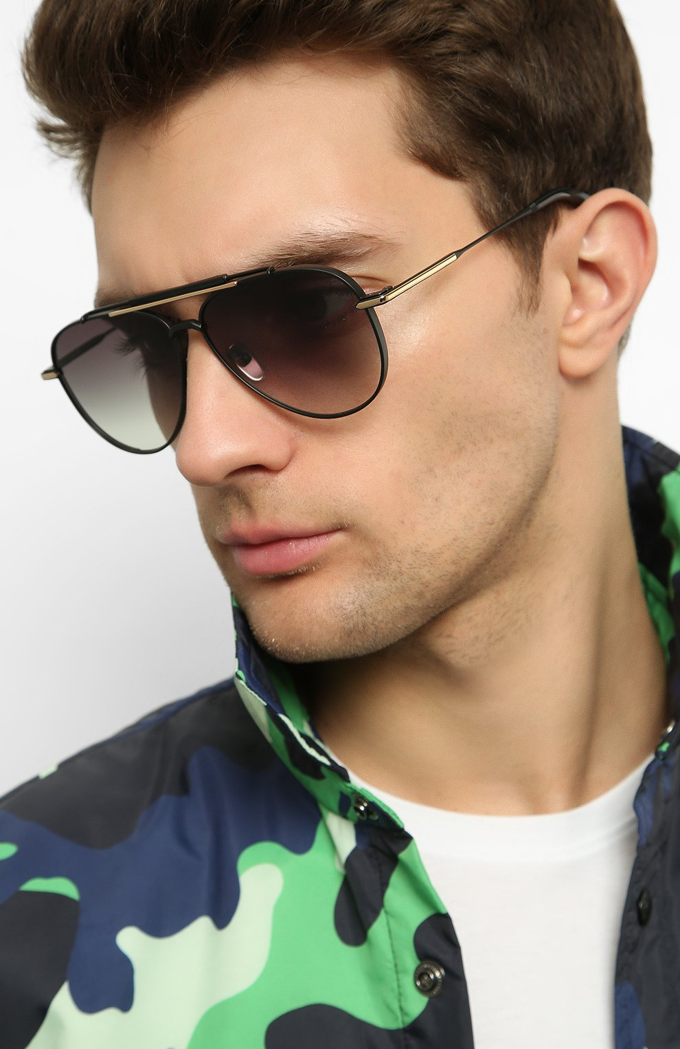 Женские солнцезащитные очки EQUE.M черного цвета, арт. CLASSIC BLEND/MB | Фото 3