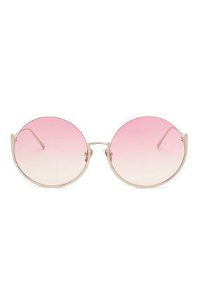Женские солнцезащитные очки LINDA FARROW розового цвета, арт. LFL1006C4 SUN | Фото 3