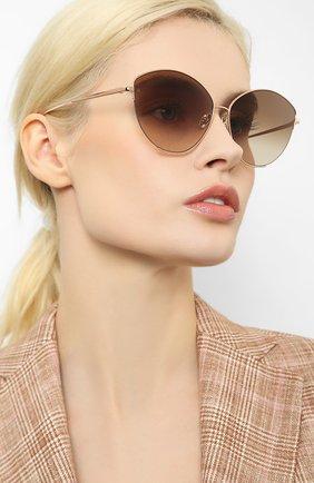 Женские солнцезащитные очки LINDA FARROW золотого цвета, арт. LFL1008C5 SUN   Фото 2
