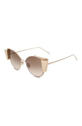 Мужские солнцезащитные очки LINDA FARROW золотого цвета, арт. LFL843C2 SUN | Фото 1