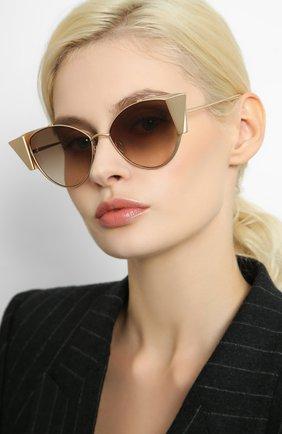Мужские солнцезащитные очки LINDA FARROW золотого цвета, арт. LFL843C2 SUN | Фото 2