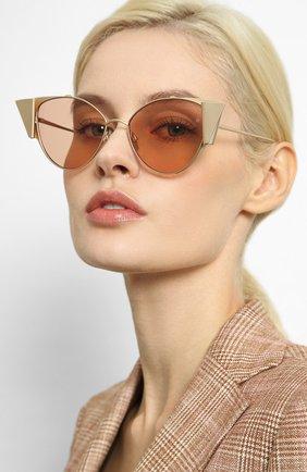 Женские солнцезащитные очки LINDA FARROW золотого цвета, арт. LFL843C3 SUN   Фото 2