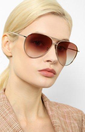 Женские солнцезащитные очки LINDA FARROW золотого цвета, арт. LFL999C3 SUN   Фото 2