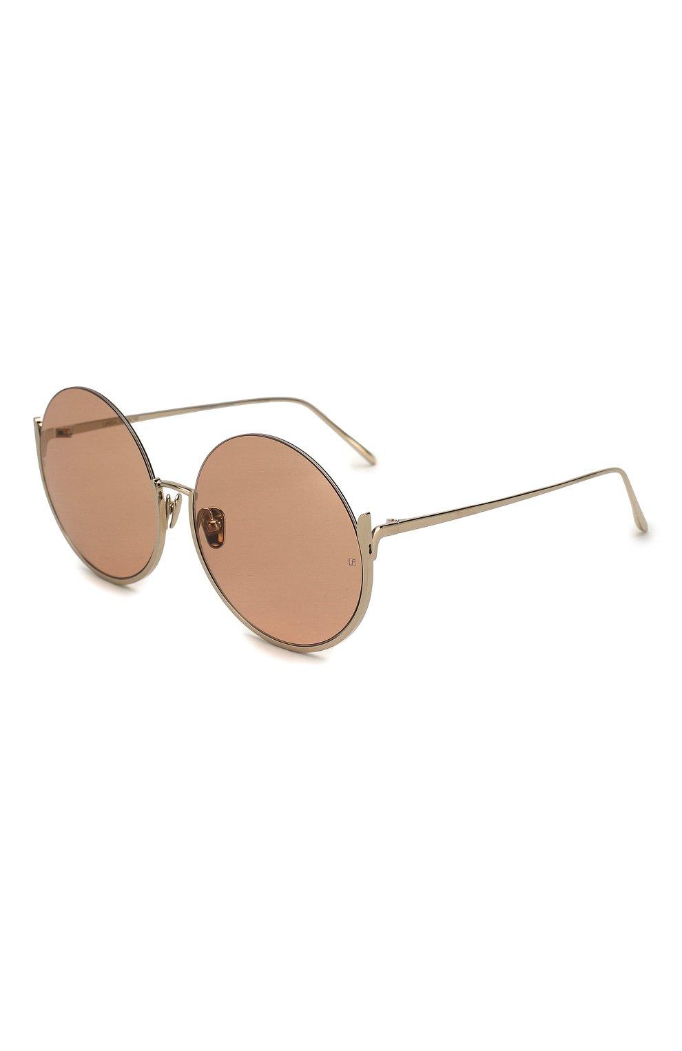 Женские солнцезащитные очки LINDA FARROW золотого цвета, арт. LFL1006C5 SUN | Фото 1
