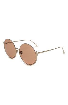 Мужские солнцезащитные очки LINDA FARROW золотого цвета, арт. LFL1006C5 SUN | Фото 1