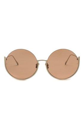 Женские солнцезащитные очки LINDA FARROW золотого цвета, арт. LFL1006C5 SUN | Фото 3