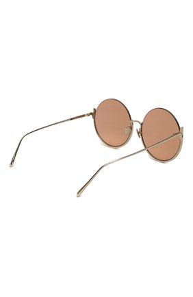 Женские солнцезащитные очки LINDA FARROW золотого цвета, арт. LFL1006C5 SUN | Фото 4