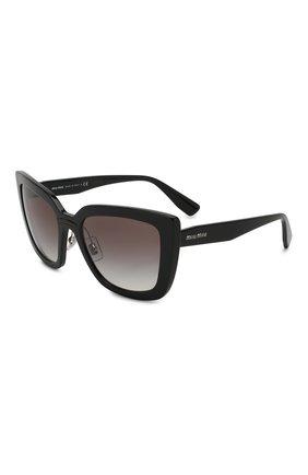 Женские солнцезащитные очки MIU MIU черного цвета, арт. 03VS-1AB0A7 | Фото 1