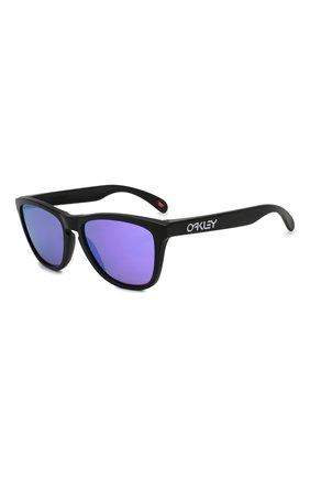Мужские солнцезащитные очки OAKLEY черного цвета, арт. 9013-9013H6 | Фото 1