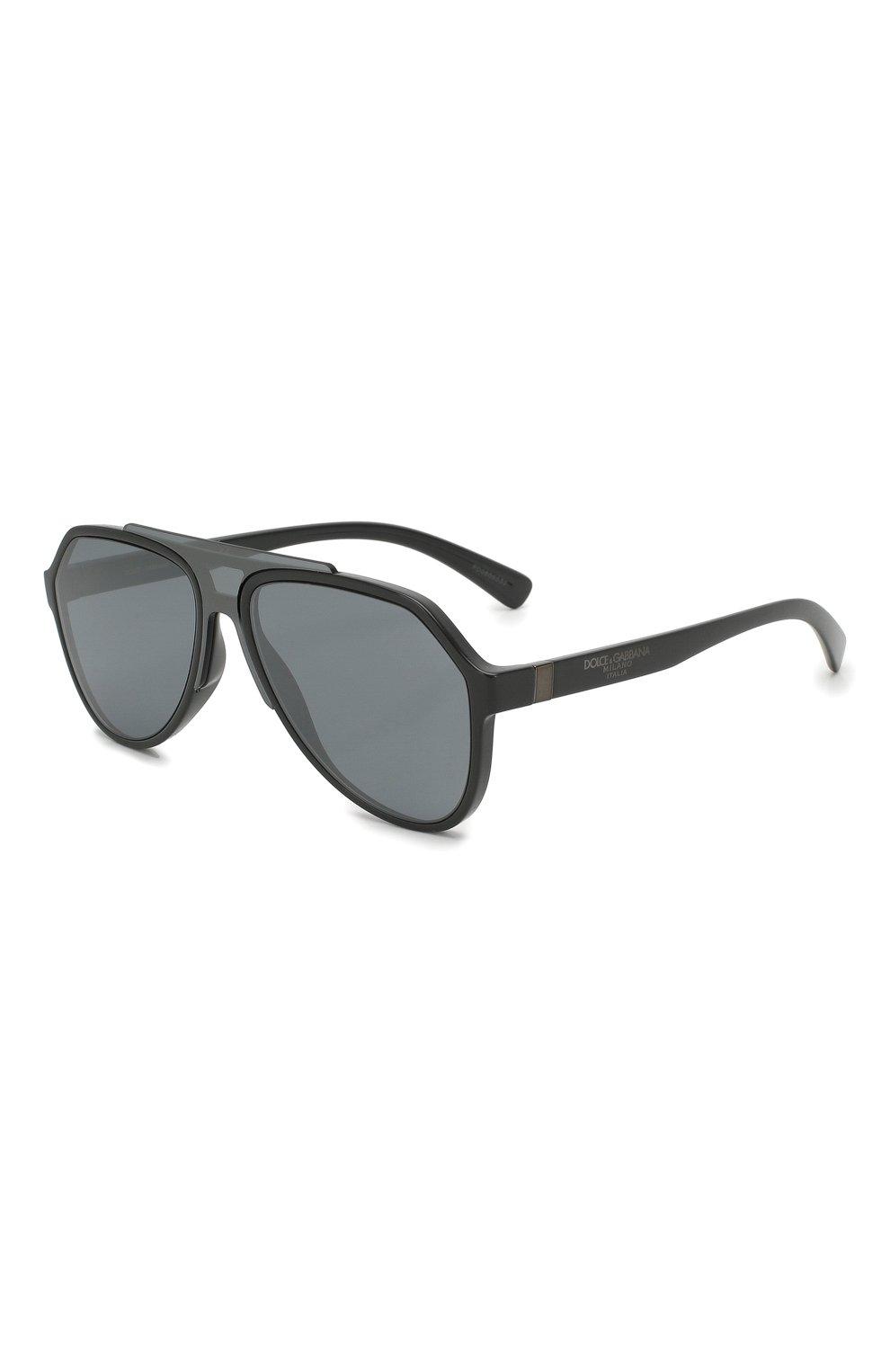 Женские солнцезащитные очки DOLCE & GABBANA серого цвета, арт. 6128-31016G | Фото 1
