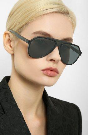 Женские солнцезащитные очки DOLCE & GABBANA серого цвета, арт. 6128-31016G | Фото 2