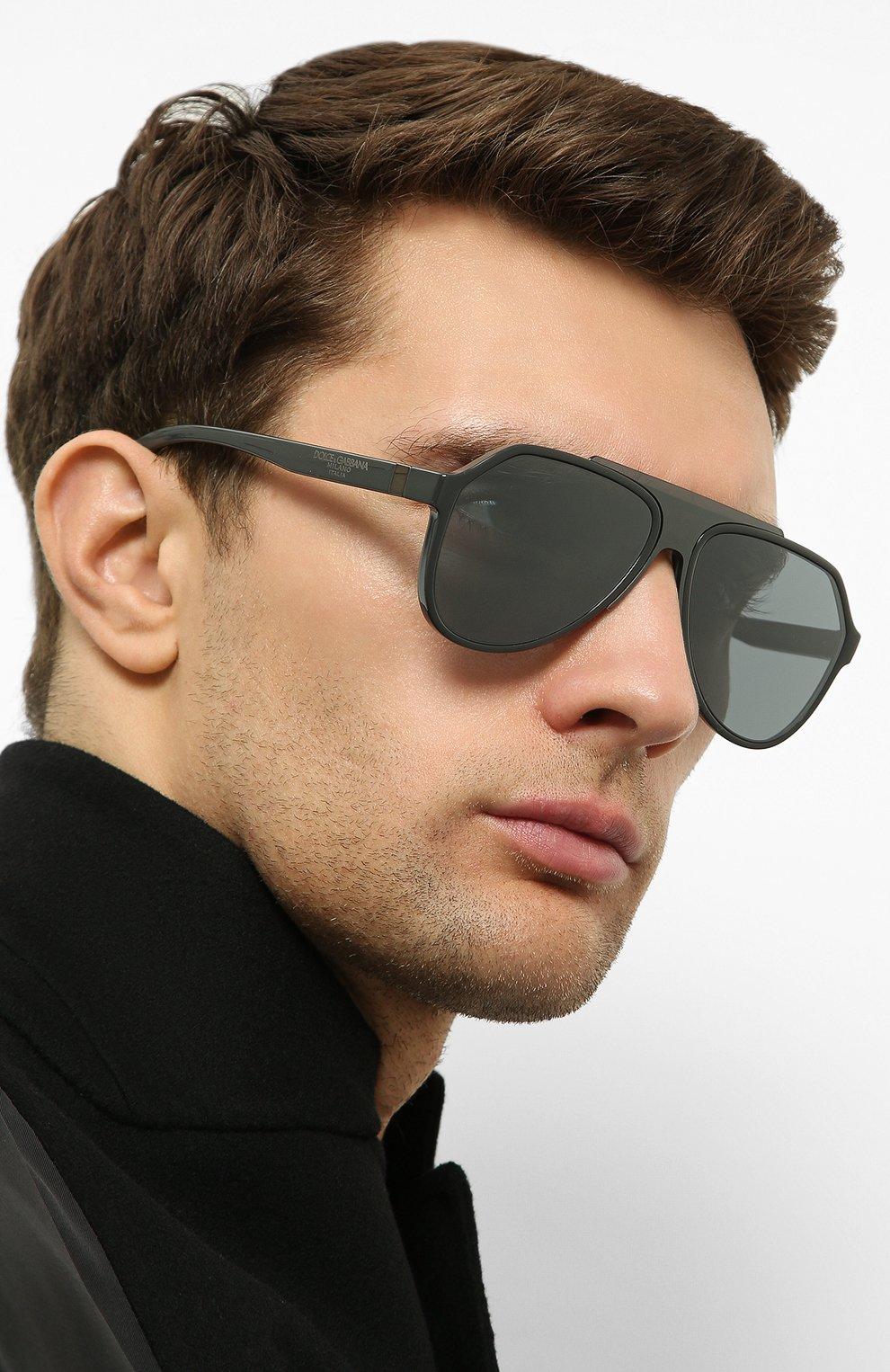 Женские солнцезащитные очки DOLCE & GABBANA серого цвета, арт. 6128-31016G | Фото 3