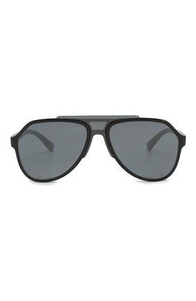 Женские солнцезащитные очки DOLCE & GABBANA серого цвета, арт. 6128-31016G | Фото 4