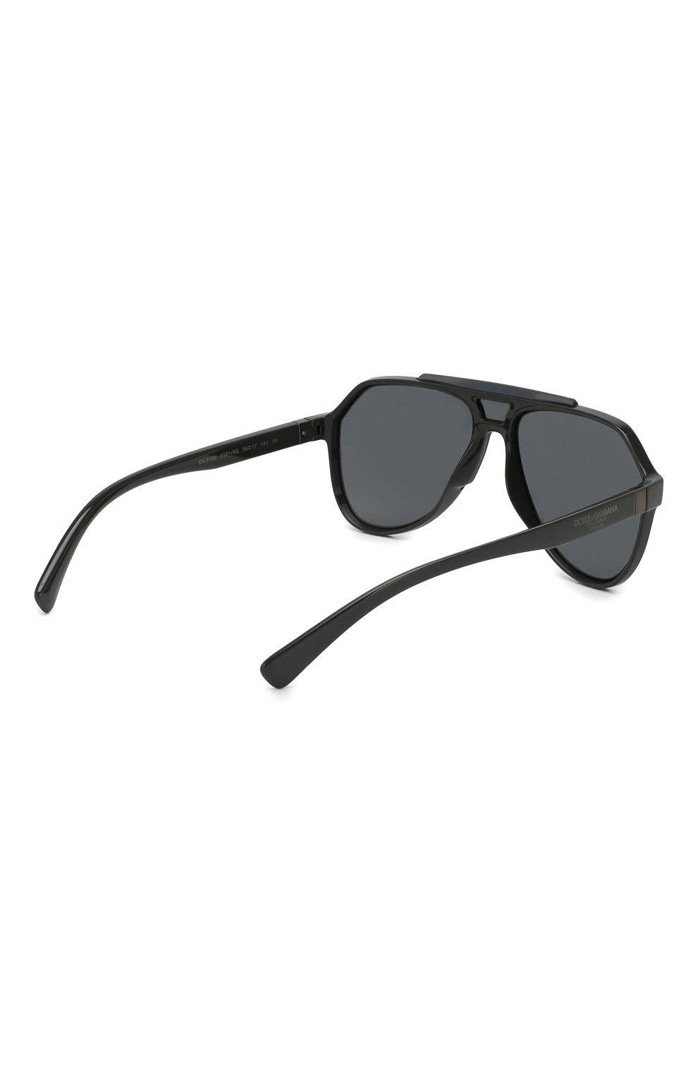 Женские солнцезащитные очки DOLCE & GABBANA серого цвета, арт. 6128-31016G | Фото 5