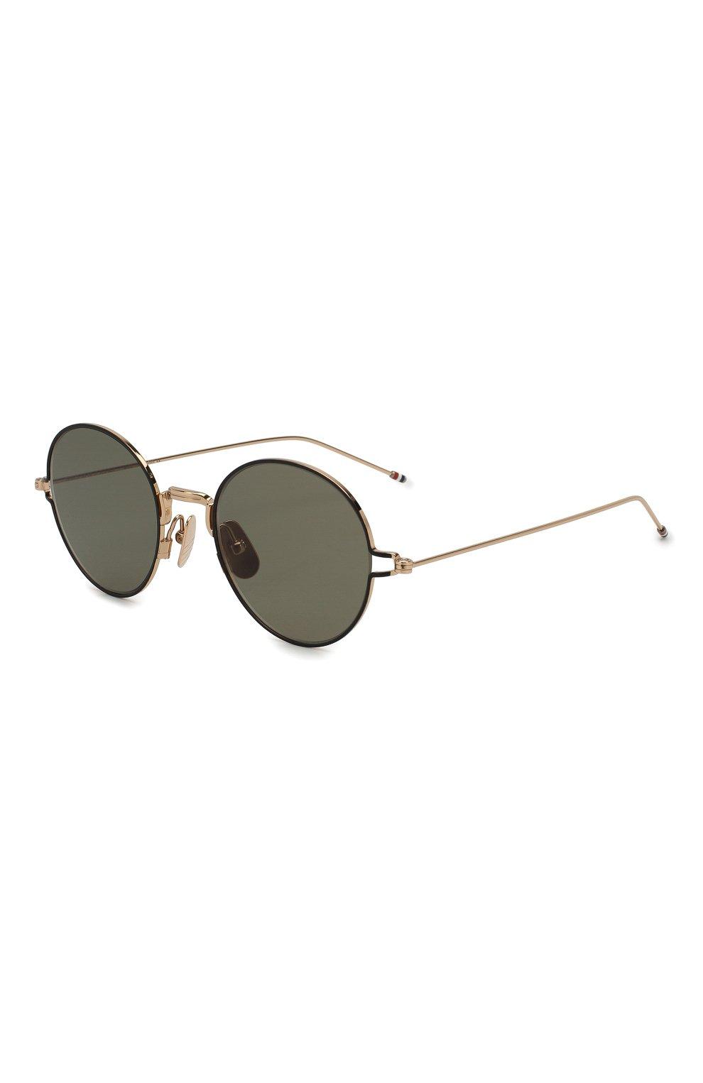 Женские солнцезащитные очки THOM BROWNE золотого цвета, арт. TB-915-02   Фото 1