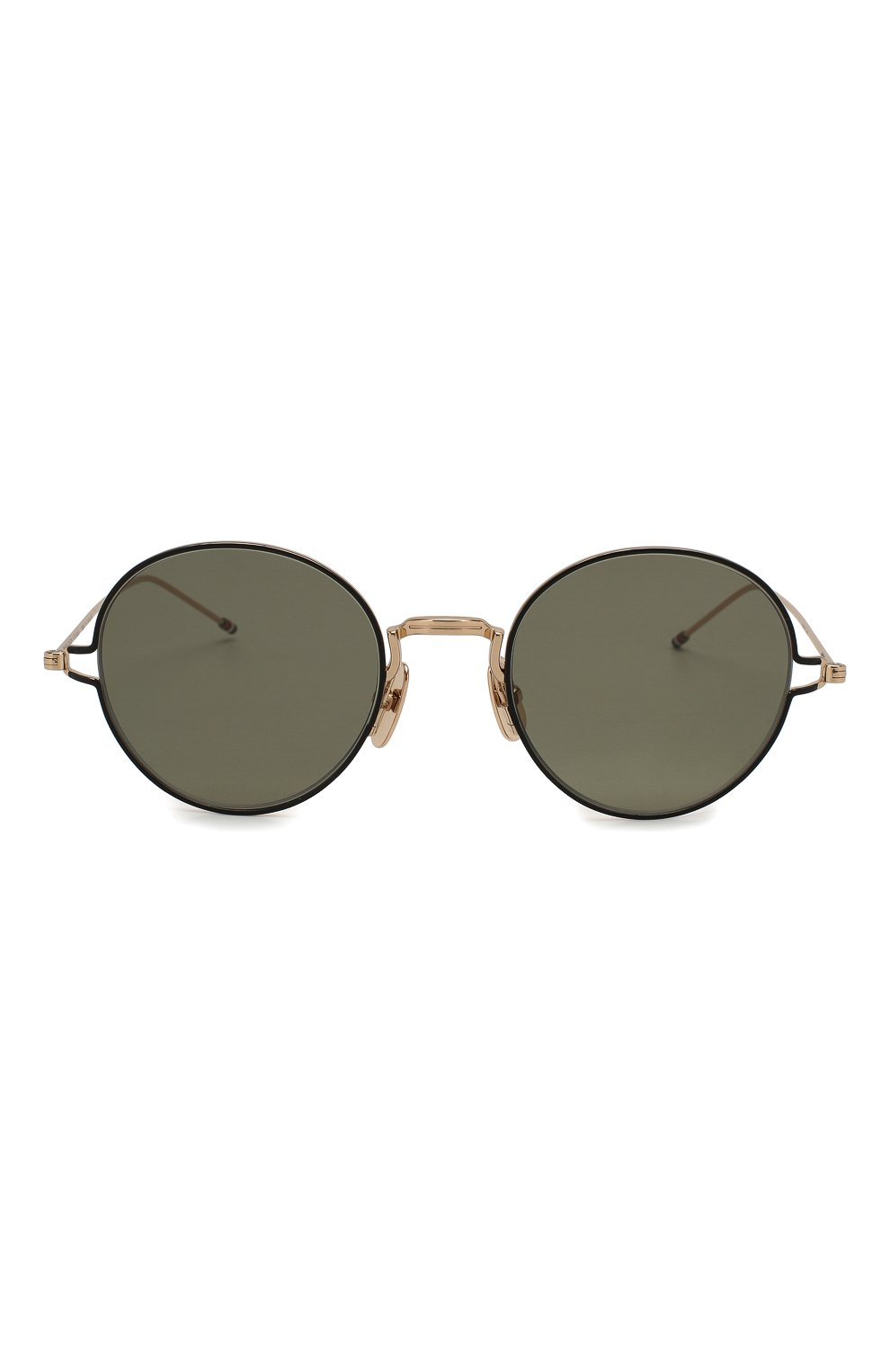 Женские солнцезащитные очки THOM BROWNE золотого цвета, арт. TB-915-02   Фото 4