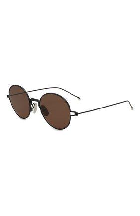 Женские солнцезащитные очки THOM BROWNE черного цвета, арт. TB-915-03 | Фото 1